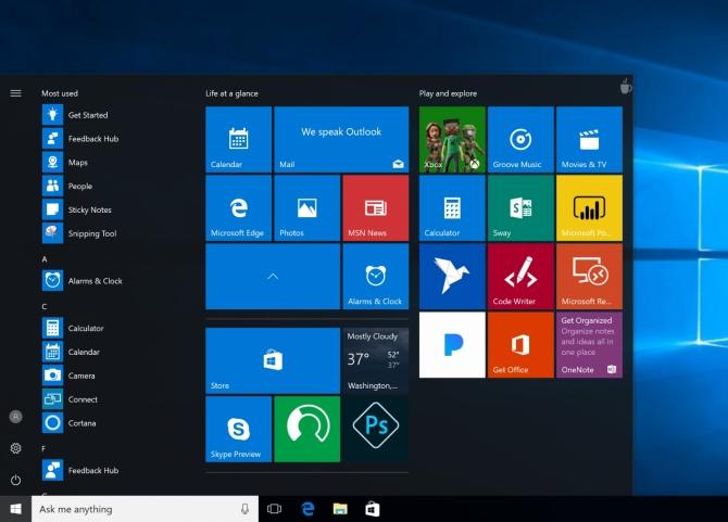 Windows 10 - utworzymy własne foldery w Menu Start [1]