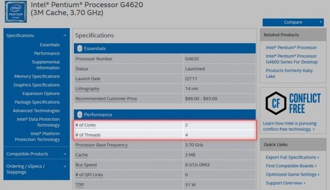 Procesory Intel Pentium Kaby Lake z obsługą Hyper-Threading [1]