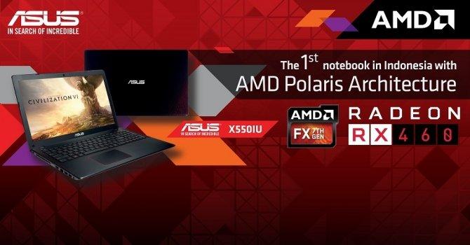 ASUS zapowiada laptopa X550IU z AMD APU oraz Radeonem RX 460 [1]
