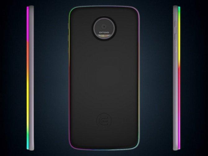 Edge - moduł dla Lenovo Moto Z wyposażony w diody RGB LED [1]