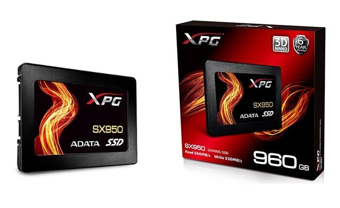 ADATA XPG SX950 - dyski SSD 3D MLC z sześcioletnią gwarancją [1]