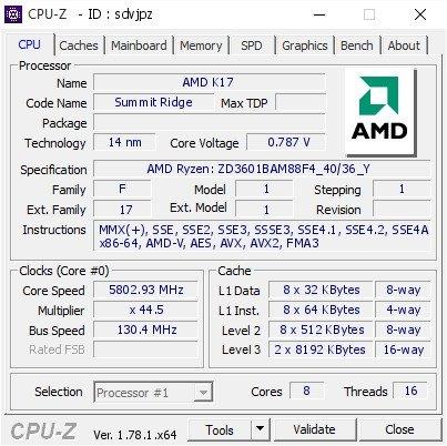 AMD Ryzen 7 1800X z zegarem 5,36 GHz bije rekord w Cinebench [2]