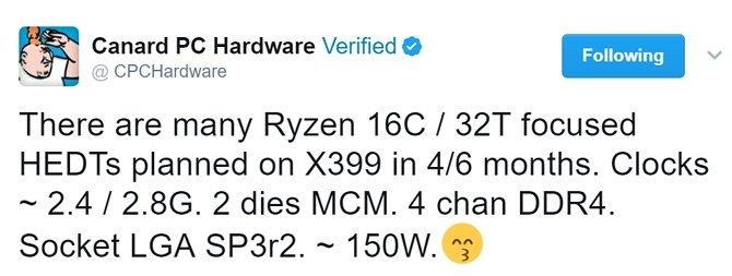 Plotka: AMD szykuje Ryzeny skierowane do komputerów HEDT [1]