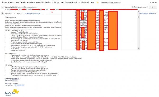 Nieuważna rekruterka doprowadziła do wycieku danych 519 osób [1]