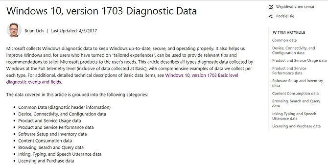 Ujawniono informacje jakie dane zbiera o nas Windows 10 [1]