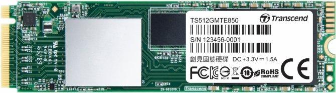 Transcend MTE850 - SSD NVMe M.2 z kośćmi 3D NAND MLC [1]