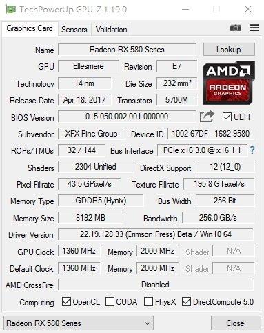 AMD Radeon RX 580 ma problemy z osiągnięciem 1500 MHz? [2]
