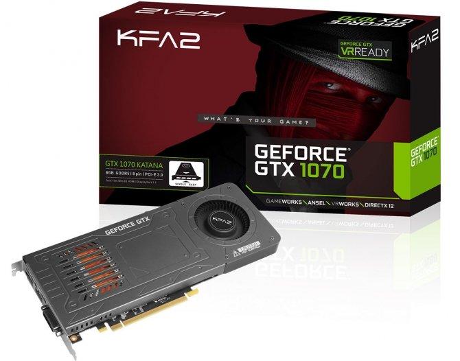 Jednoslotowy GeForce GTX 1070 od KFA2 debiutuje w Europie [1]