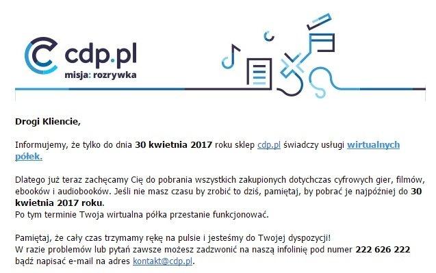 Kupowałeś na CDP.pl? Niedługo stracisz swoją własność! [2]