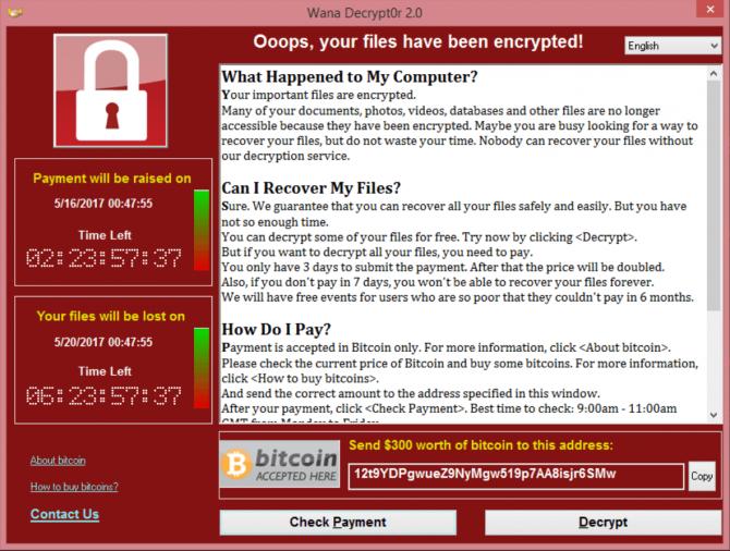 Złośliwy ransomware WannaCry zbiera żniwo na całym świecie [2]