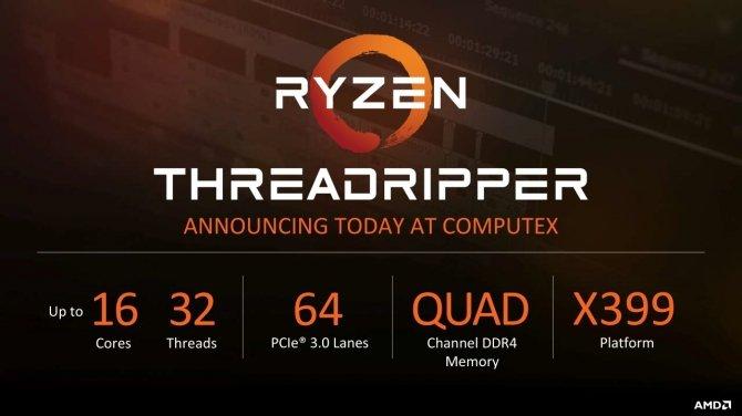 AMD Ryzen Threadripper - będzie dziewięć nowych procesorów [2]