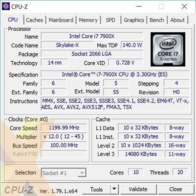 Intela Core i9-7900X - pojawiły się pierwsze testy Skylake-X [1]