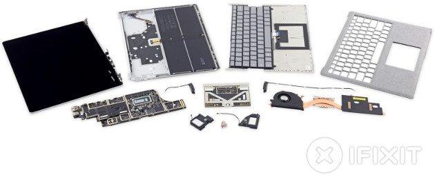 Microsoft Surface Laptop otrzymał notę 0/10 od iFixit [1]