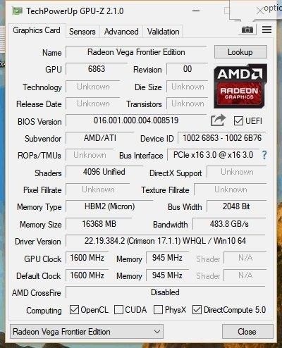 AMD przygotowuje kartę Radeon Pro WX 9100 z rdzeniem Vega [7]