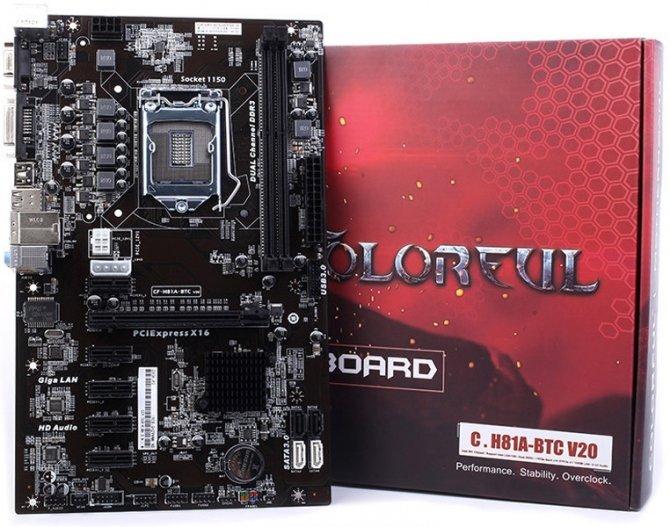 Colorful H81A-BTC V20 - płyta dla górników ze starszymi CPU [1]