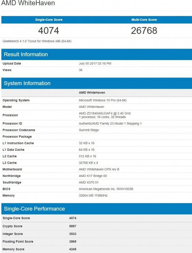 AMD Ryzen Threadripper 1950X - kolejne wyniki wydajności [2]