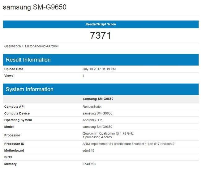 Tajemnicze wpisy w Geekbench - czy to Samsung Galaxy S9? [1]
