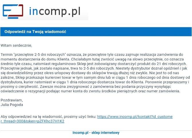 Incomp.pl - kolejny fałszywy sklep online ze sprzętem [1]