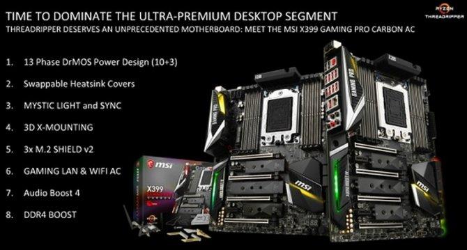 Specyfikacja płyty głównej MSI X399 Gaming Pro Carbon AC [1]