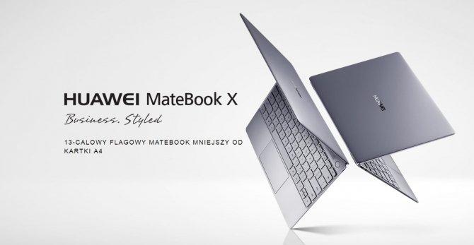 Huawei MateBook X oficjalnie debiutuje w Polsce - znamy ceny [1]