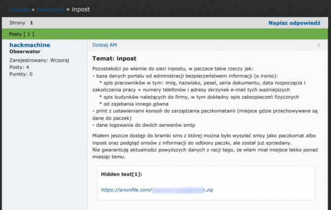 Dotkliwy atak na InPost - wyciek danych ponad 50 tys. osób [2]