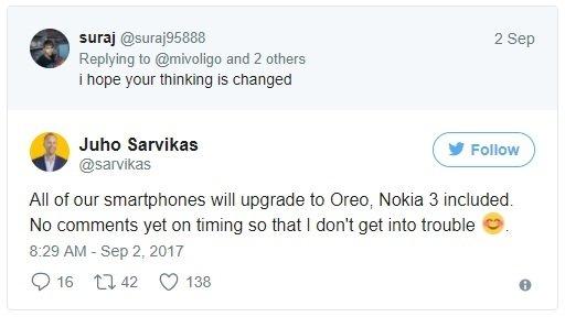 Wszystkie Nokie od HMD Global mają otrzymać Androida 8.0 [1]
