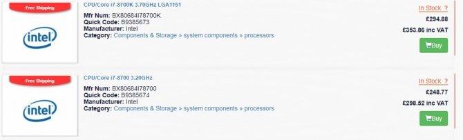 Intel Coffee Lake ceny procesorów będą wyższe od Kaby Lake? [2]