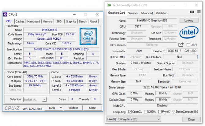 Intel Core i5-8250U - rozczarowujące wyniki wydajności [1]