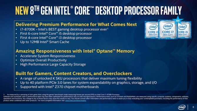 Intel Coffee Lake-S - oficjalne informacje o nowych CPU [7]