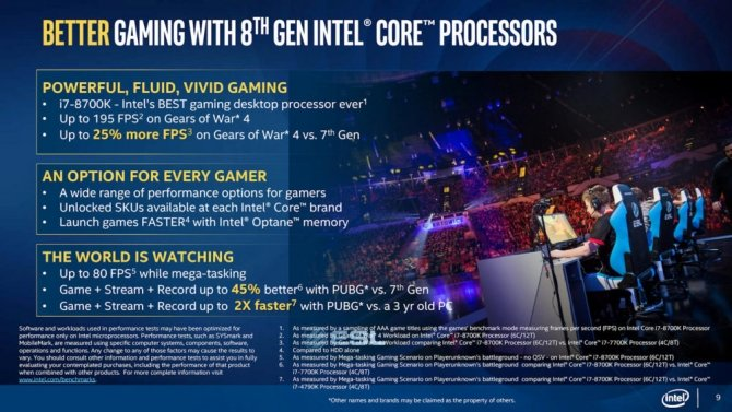 Intel Coffee Lake-S - oficjalne informacje o nowych CPU [8]