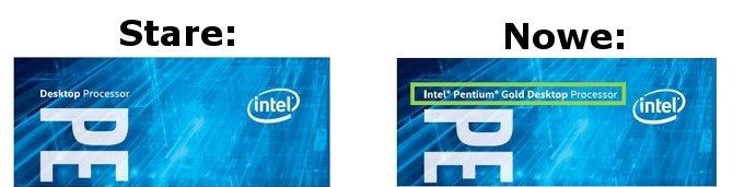 Intel zmienia nazewnictwo procesorów Pentium Kaby Lake [2]