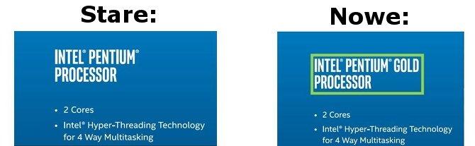 Intel zmienia nazewnictwo procesorów Pentium Kaby Lake [3]