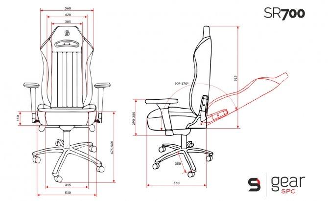 SPC Gear SR700 - fotele dla potężnych gabarytowo graczy [4]
