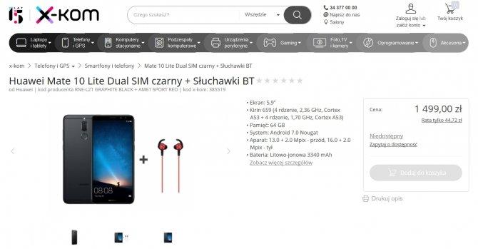 Huawei Mate 10 Lite - znamy cenę i specyfikację smartfona [3]