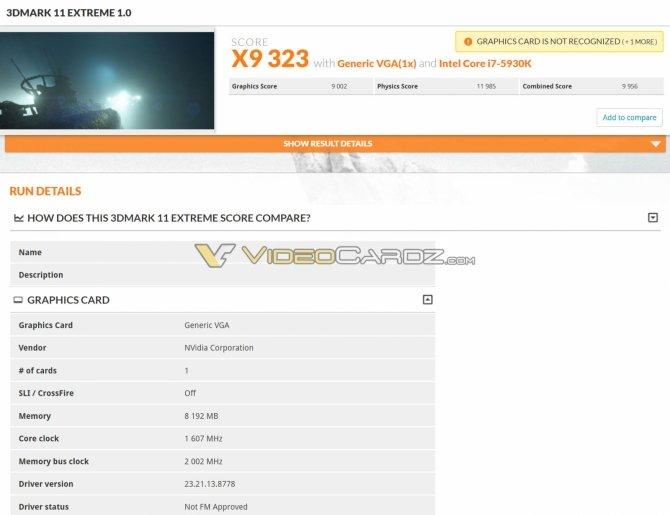 NVIDIA GeForce GTX 1070 Ti - Wyniki wydajności w 3DMarku [3]