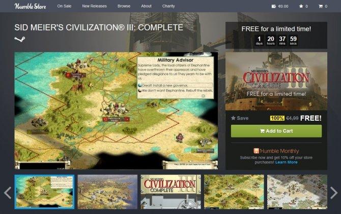 Sid Meier's Civilization III za darmo na Humble Bundle [1]