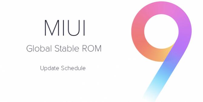 Xiaomi ogłosiła harmonogram aktualizacji MIUI 9 dla smartfon [1]