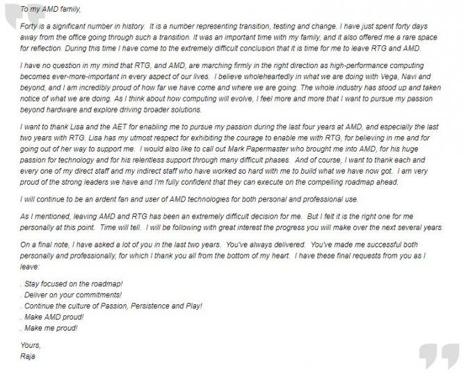 Raja Koduri kończy współpracę z firmą AMD. Kierunek: Intel? [2]
