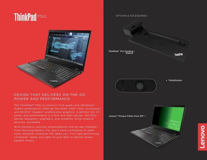 Lenovo ThinkPad P52s - ultrabook z NVIDIA Quadro P500 [3]
