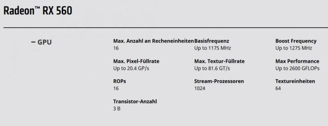 AMD po chichu zmienia specyfikację karty Radeon RX 560 [1]