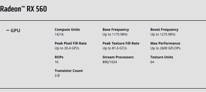 AMD po chichu zmienia specyfikację karty Radeon RX 560 [2]