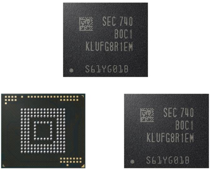 Samsung Electronics uruchamia produkcję pamięci eUFS 512 GB [1]