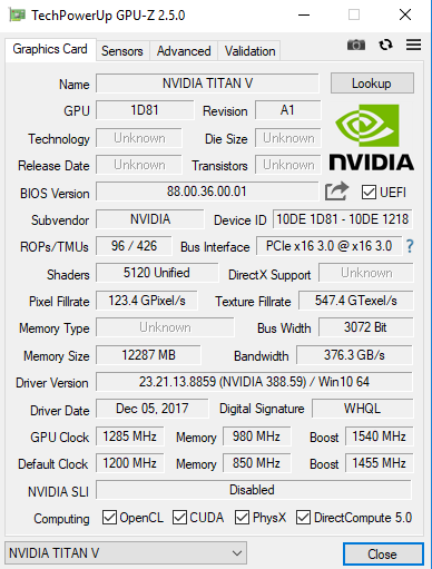 NVIDIA TITAN V - Pierwsze wyniki wydajności karty graficznej [2]
