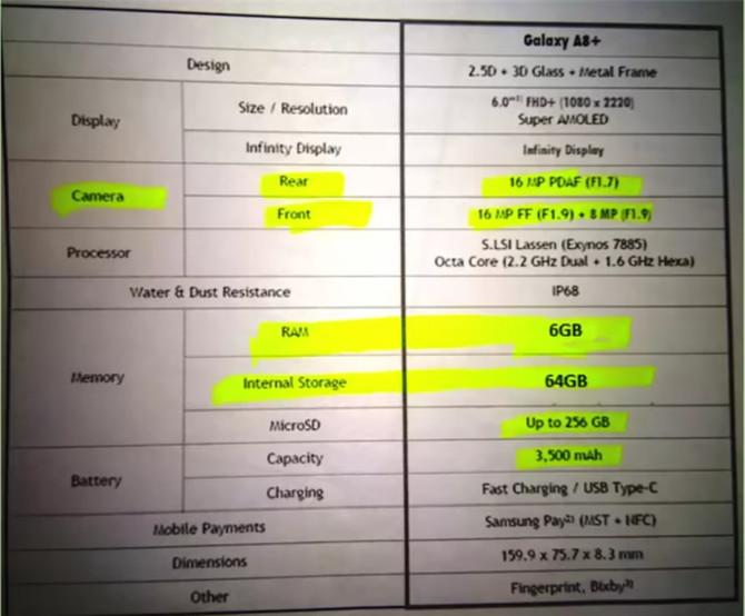 Samsung Galaxy A8+ złapany na wideo. Premiera już blisko [2]