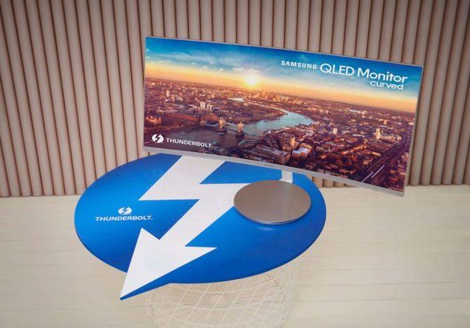 Samsung CJ791 - nowy monitor QLED z portem Thunderbolt 3 [3]