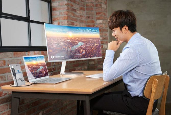 Samsung CJ791 - nowy monitor QLED z portem Thunderbolt 3 [4]