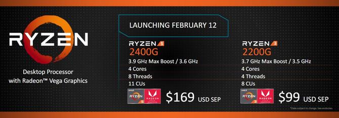 AMD Ryzen 3 2300G oraz Ryzen 5 2400G - nadchodzą APU dla PC [1]