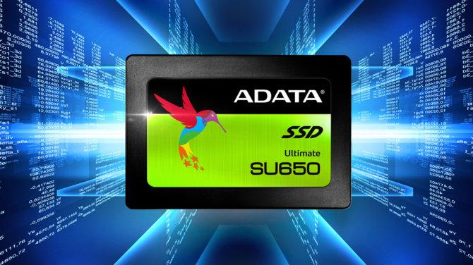 ADATA wprowadza na rynek tanie dyski SSD z serii SU650 [1]