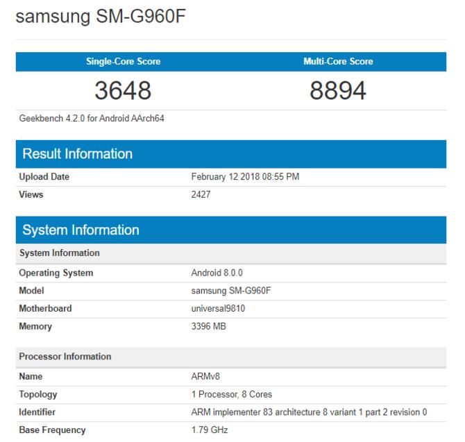Do Polski trafi Samsung Galaxy S9 z procesorem Exynos 9810 [1]
